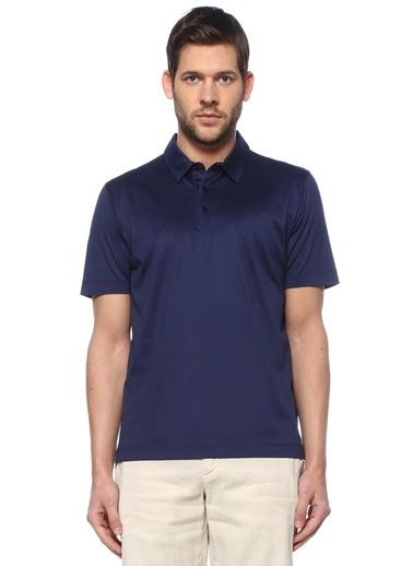 Canali Canali  Polo Yaka T-shirt 101600192 Mavi
